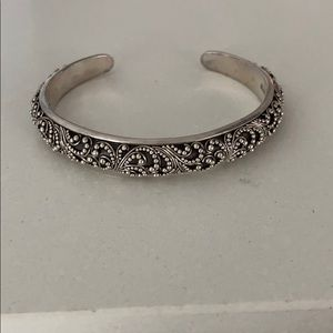 Lois Hill Bali sterling silver cuff